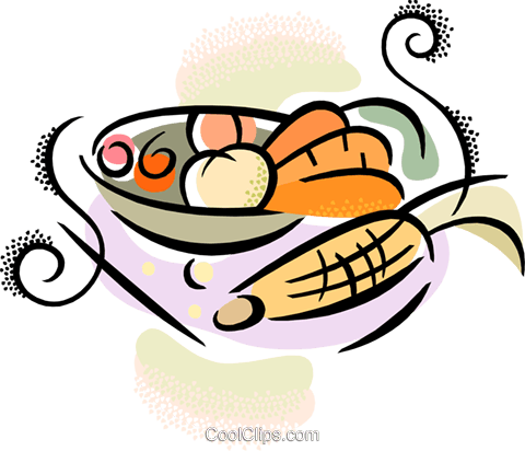 bowl of vegetables Royalty Free Vector Clip Art illustration vc038402