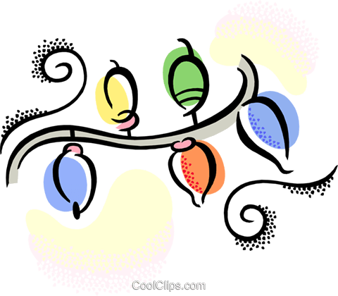 Christmas lights Royalty Free Vector Clip Art illustration vc038422
