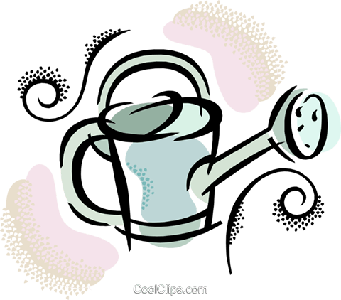 watering can Royalty Free Vector Clip Art illustration vc038434