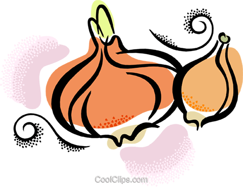 onions Royalty Free Vector Clip Art illustration vc038460