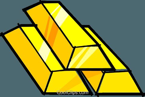 Gold Bars Royalty Free Vector Clip Art Illustration
