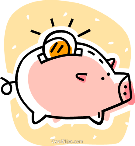 piggy bank Royalty Free Vector Clip Art illustration vc038621