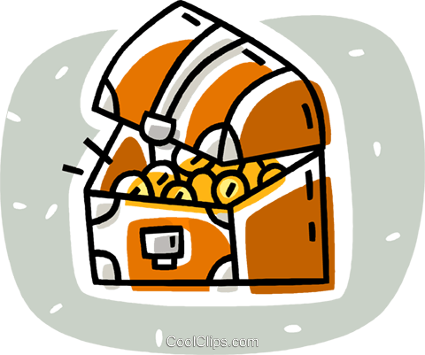 treasure chest Royalty Free Vector Clip Art illustration vc038625