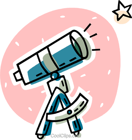 Telescope Royalty Free Vector Clip Art Illustration