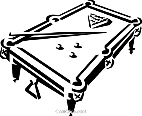 Pool Table And Balls Royalty Free Vector Clip Art Illustration Vc038903