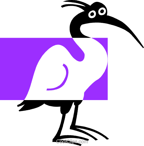 Ibis Royalty Free Vector Clip Art illustration vc039004