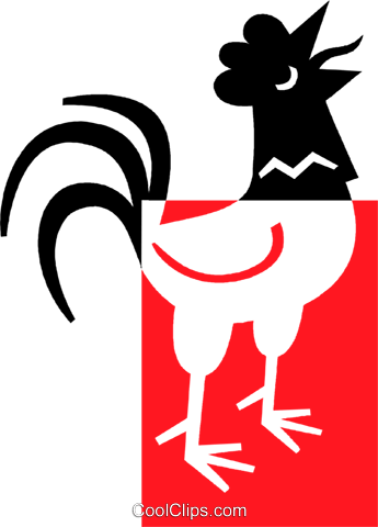 rooster Royalty Free Vector Clip Art illustration vc039056