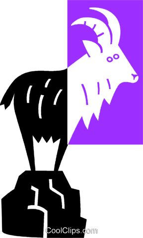 mountain goat Royalty Free Vector Clip Art illustration vc039080