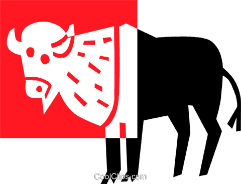 buffalo Royalty Free Vector Clip Art illustration vc039112