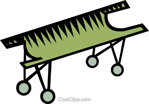 hospital bed/stretcher Royalty Free Vector Clip Art ...