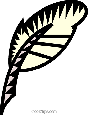 feather pen Royalty Free Vector Clip Art illustration vc039426
