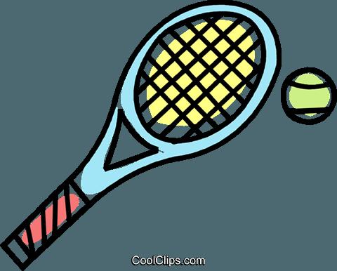 Clip Art Line Drawing Tennis Racket