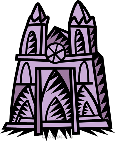 church Royalty Free Vector Clip Art illustration vc039515