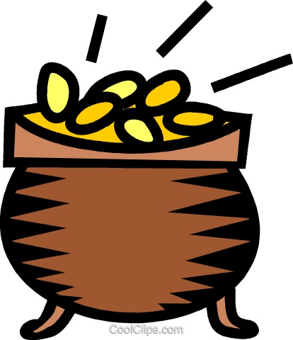 pot-of-gold Royalty Free Vector Clip Art illustration vc039565