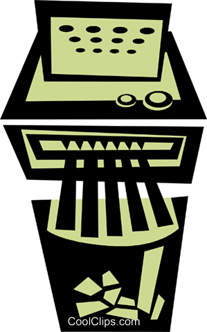 paper shredder Royalty Free Vector Clip Art illustration vc039658