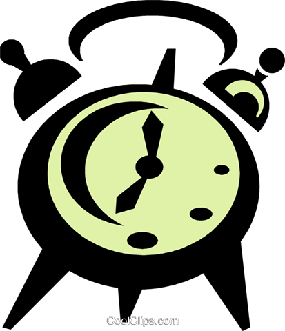 alarm clock Royalty Free Vector Clip Art illustration vc039690