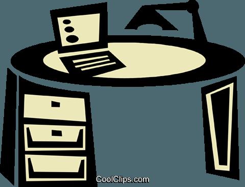 Schreibtisch büro clipart  Büro-Schreibtisch mit Laptop Vektor Clipart Bild -vc039738 ...