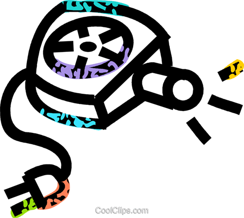 slide projector Royalty Free Vector Clip Art illustration vc039811