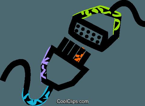 Computer-Kabel Vektor Clipart Bild -vc039844-CoolCLIPS.com