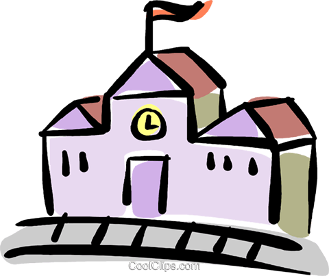 school house Royalty Free Vector Clip Art illustration vc040132