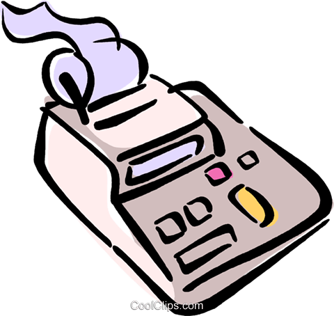 calculator Royalty Free Vector Clip Art illustration vc040245