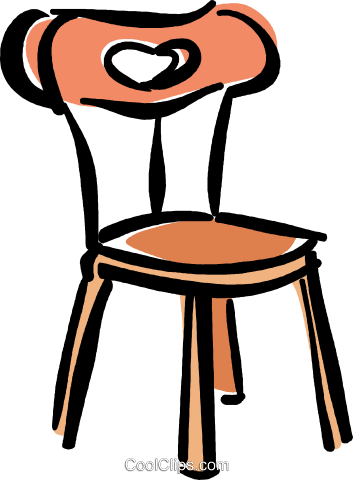 kitchen chair Royalty Free Vector Clip Art illustration vc040356