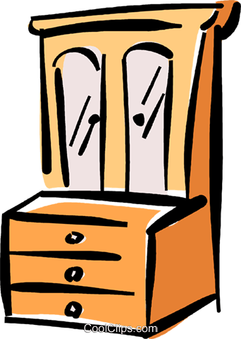 chest of drawers Royalty Free Vector Clip Art illustration vc040363