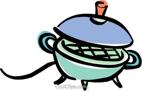 electric grill Royalty Free Vector Clip Art illustration vc040414