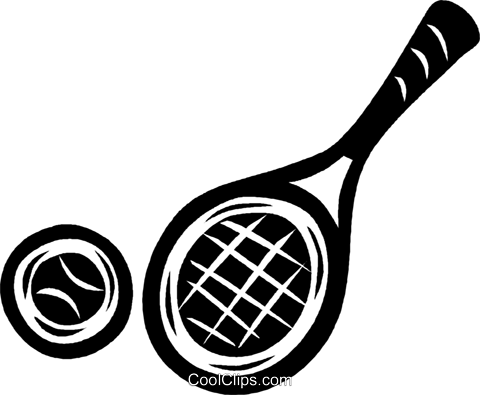 tennis racket and ball Royalty Free Vector Clip Art illustration vc040467