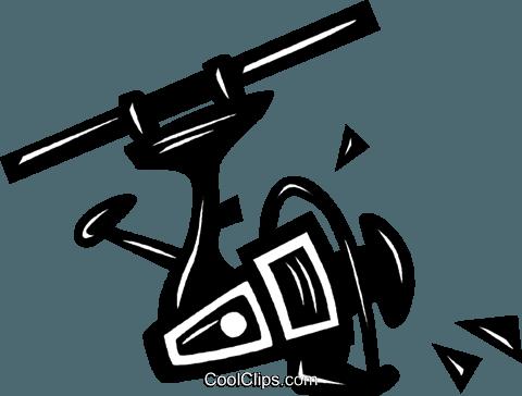 fishing reel royalty free vector clip art illustration vc040475