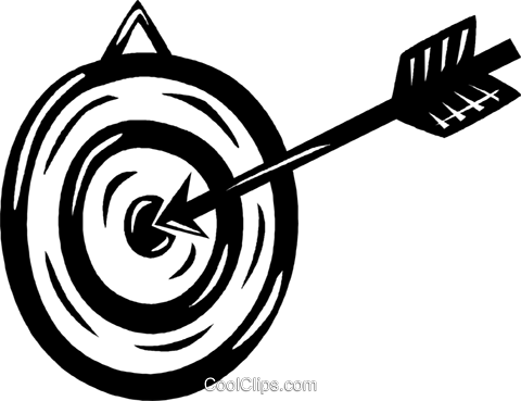 dartboard and dart Royalty Free Vector Clip Art illustration vc040525