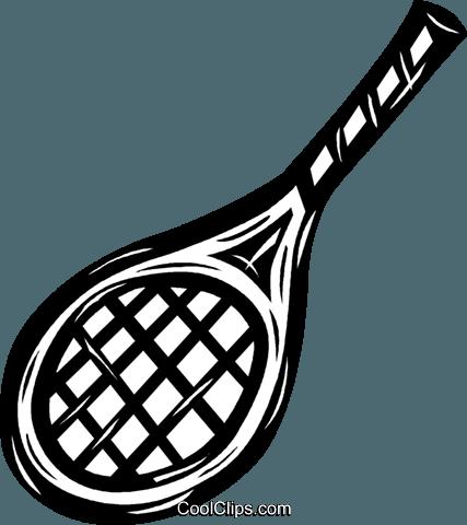 网球拍 免版税矢量剪贴画插图