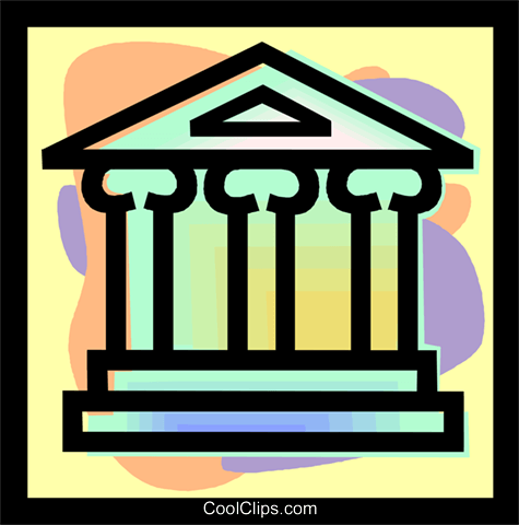 Financial Institution immagini grafiche vettoriali clipart vc040753