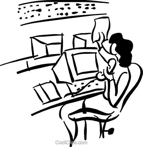 woman at work Royalty Free Vector Clip Art illustration vc040782