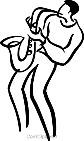 saxophonist Royalty Free Vector Clip Art illustration vc040847