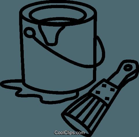 Pinsel clipart schwarz weiß  Farbe und Pinsel können Vektor Clipart Bild -vc041631-CoolCLIPS.com
