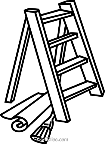 Step ladder Royalty Free Vector Clip Art illustration vc041651