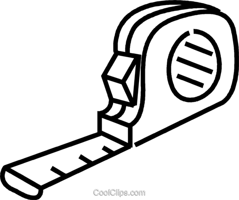 tape measure Royalty Free Vector Clip Art illustration vc041712