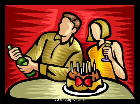 birthday celebration Royalty Free Vector Clip Art illustration vc041783