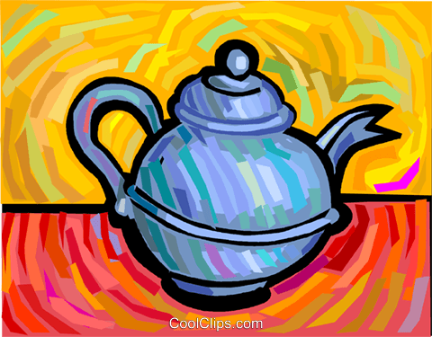 teapot Royalty Free Vector Clip Art illustration vc041798