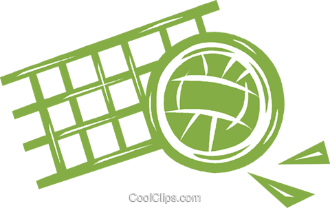 volleyball and net Royalty Free Vector Clip Art illustration vc041807