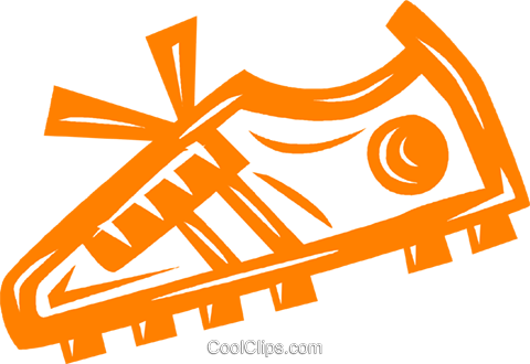 cleat/shoe Royalty Free Vector Clip Art illustration vc041844