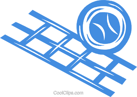 volleyball and net Royalty Free Vector Clip Art illustration vc041854