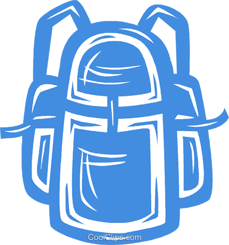 knapsack Royalty Free Vector Clip Art illustration vc041872