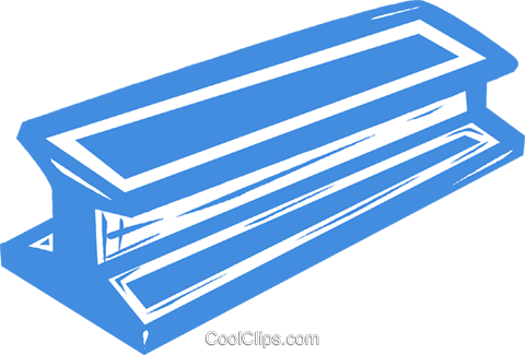i-beam Royalty Free Vector Clip Art illustration vc041953