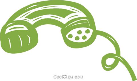 telephone receiver Royalty Free Vector Clip Art illustration vc042038