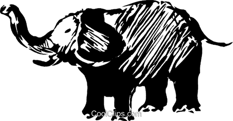 elephant Royalty Free Vector Clip Art illustration vc044246