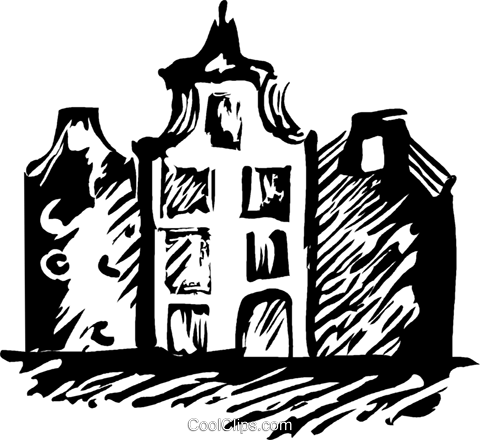 European building Royalty Free Vector Clip Art illustration vc044247