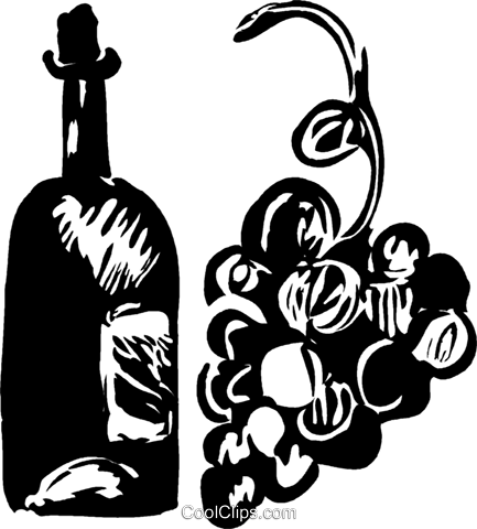 bottle of wine Royalty Free Vector Clip Art illustration vc044253