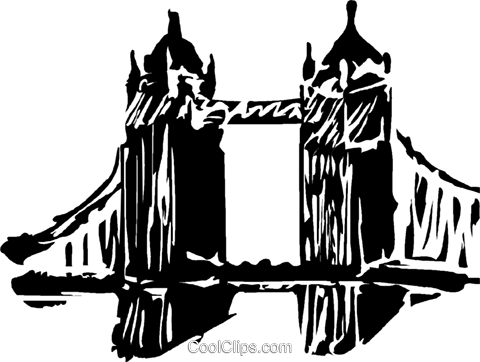 London Bridge Royalty Free Vector Clip Art illustration vc044254